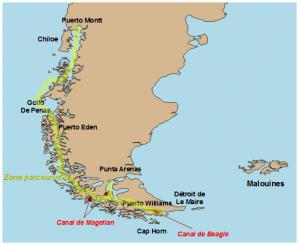 Patagonie-Carte